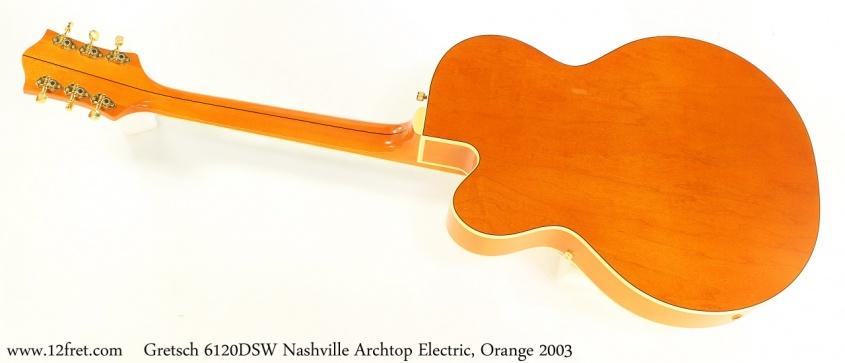 Gretsch 6120DSW Nashville  Archtop Electric, Orange 2003 Full rear View