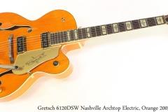 Gretsch 6120DSW Nashville  Archtop Electric, Orange 2003 Full Front View