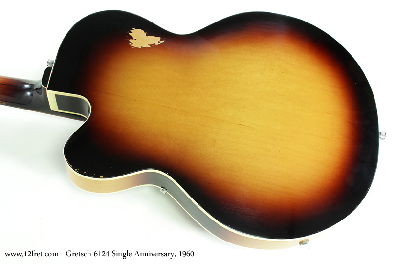 Gretsch 6124 Single Anniversary 1960 back