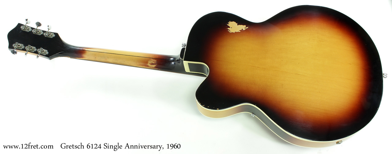 Gretsch 6124 Single Anniversary 1960 full rear view