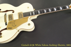 Gretsch 6136 White Falcon Archtop Electric, 2001 Full Front View