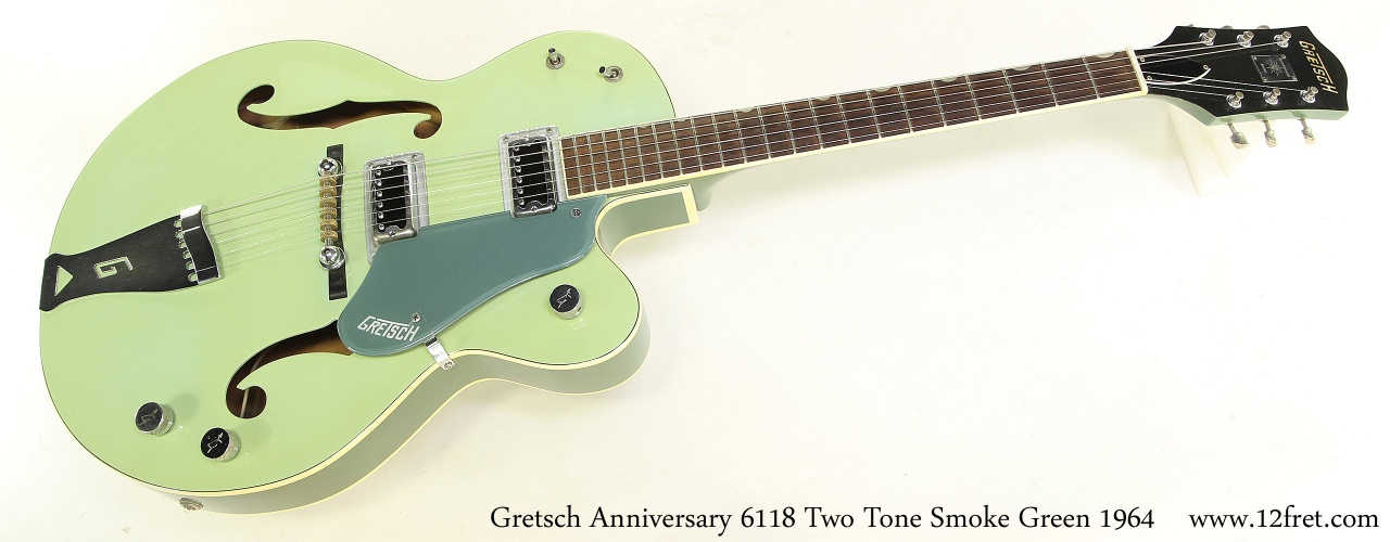 Gretsch Anniversary 6118 Two Tone Smoke Green 1964 Full Front View