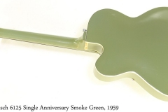 Gretsch 6125 Single Anniversary Smoke Green, 1959 Full Rear View