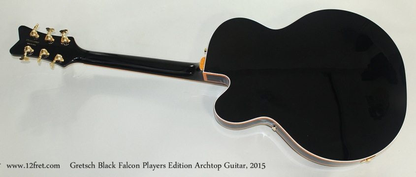 Gretsch Black Falcon Players Edition Archtop Guitar, 2015 Full Rear View