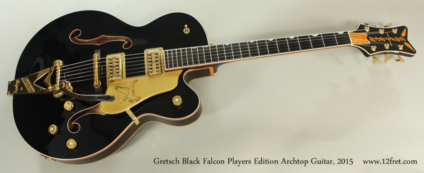 Gretsch Black Falcon Players Edition Archtop Guitar, 2015 Full Front View
