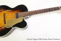 Gretsch Clipper 6186 Archtop Electric Sunburst, 1958  Full Front View
