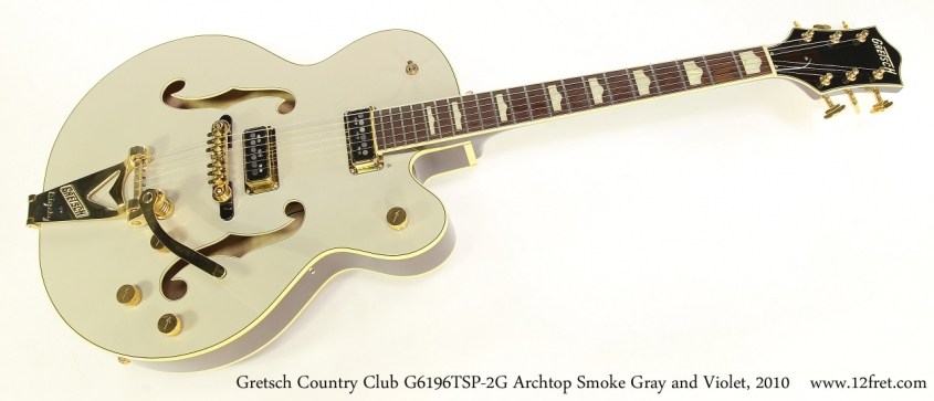 Gretsch Country Club G6196TSP-2G Archtop Smoke Gray and Violet, 2010   Full Front View