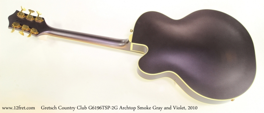 Gretsch Country Club G6196TSP-2G Archtop Smoke Gray and Violet, 2010   Full Rear View