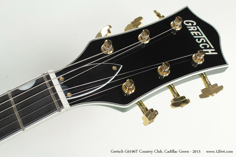 Gretsch G6196T Country Club Cadillac Green 2013 head front view