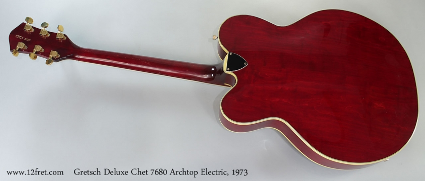 Gretsch Deluxe Chet 7680 Archtop Electric, 1973 Full Rear VIew