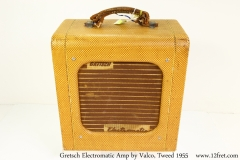 Gretsch Electromatic Amp by Valco, Tweed 1955 Full Front View