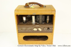 Gretsch Electromatic Amp by Valco, Tweed 1955 Full Rear View