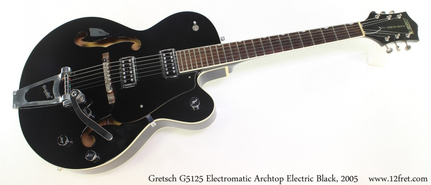 Gretsch G5125 Electromatic Archtop Electric Black, 2005 Full Front View