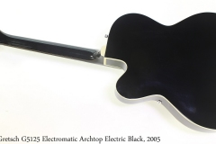 Gretsch G5125 Electromatic Archtop Electric Black, 2005 Full Rear View