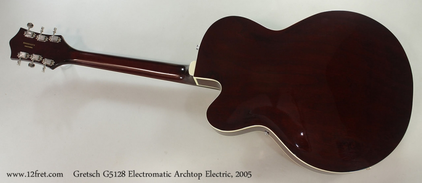 Gretsch G5128 Electromatic Archtop Electric, 2005 Full Rear View