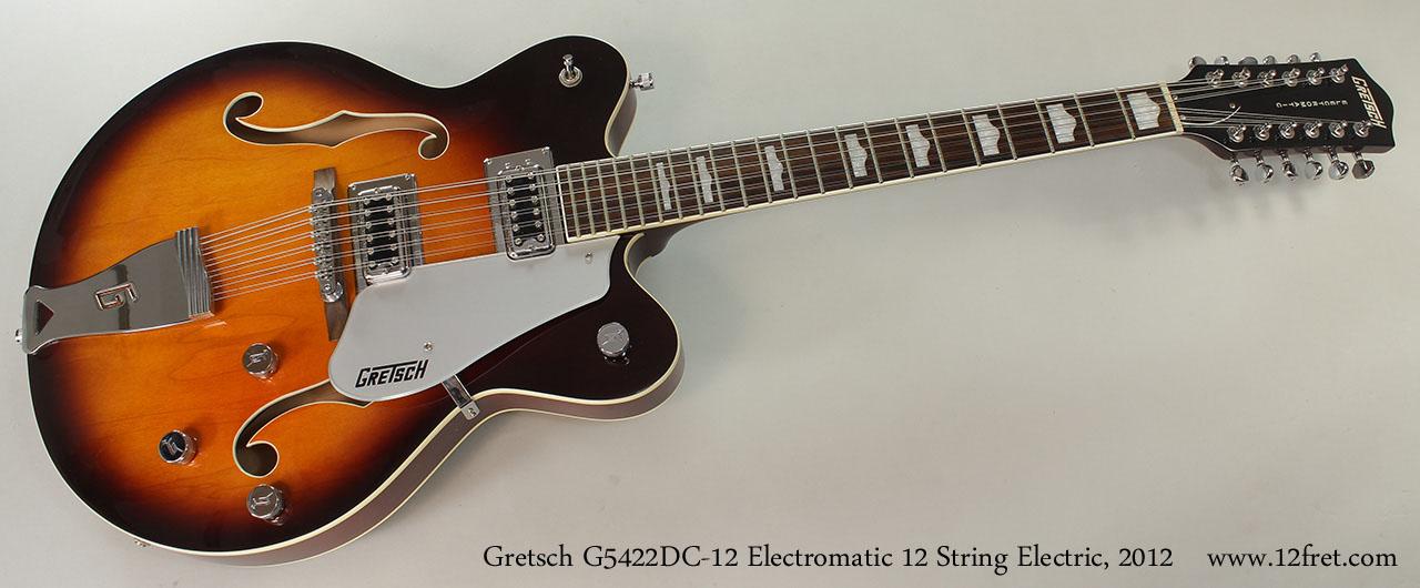 2012 gretsch g5422dc 12 electromatic 12 string sold. Black Bedroom Furniture Sets. Home Design Ideas