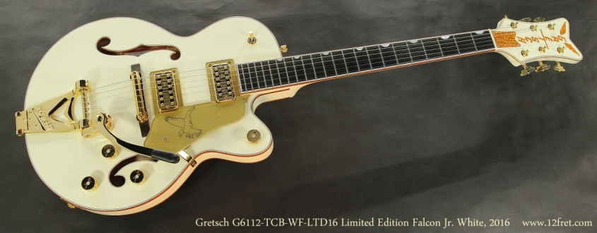 Gretsch G6112-TCB-WF-LTD16 Limited Edition Falcon Jr. Vintage White, 2016  Full Front View