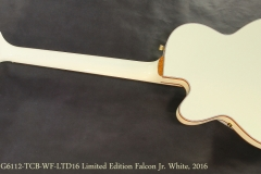 Gretsch G6112-TCB-WF-LTD16 Limited Edition Falcon Jr. Vintage White, 2016  Full Rear View