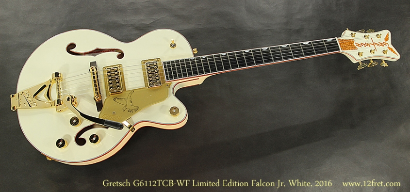 Gretsch G6112TCB-WF-LTD16 Limited Edition Falcon Jr. White, 2016 Full Front View