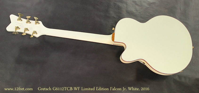 Gretsch G6112TCB-WF-LTD16 Limited Edition Falcon Jr. White, 2016 Full Rear View