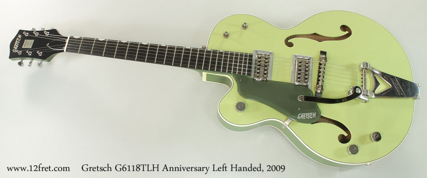 Gretsch G6118TLH Anniversary Left Handed, 2009 Full Front View