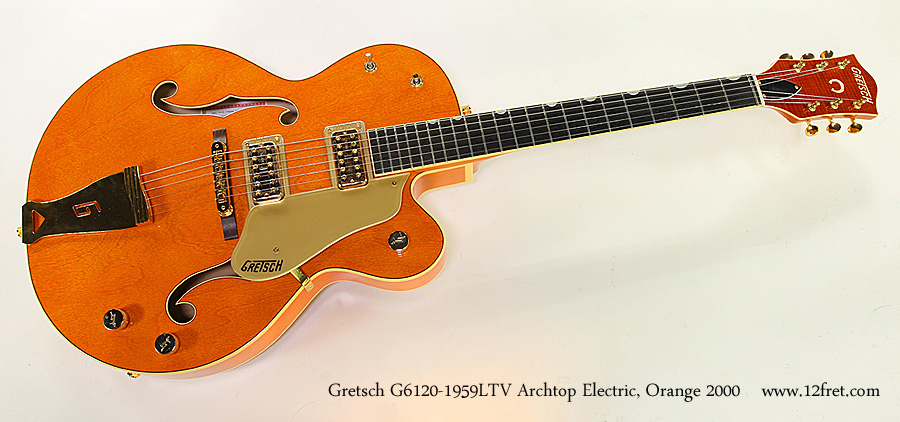 Gretsch G6120-1959LTV Archtop Electric, Orange 2000 Full Front View