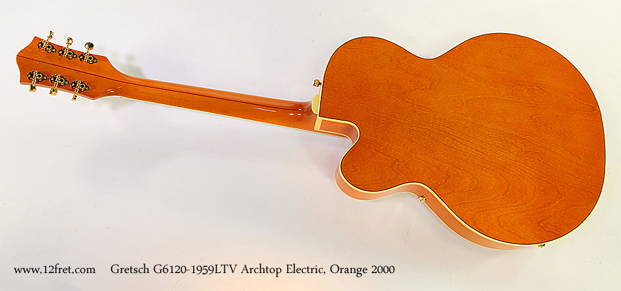 Gretsch G6120-1959LTV Archtop Electric, Orange 2000 Full Rear View