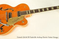 Gretsch G6120 DS Nashville Archtop Electric Guitar Orange, 2003 Full Front View