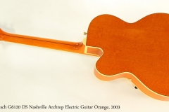 Gretsch G6120 DS Nashville Archtop Electric Guitar Orange, 2003 Full Rear View