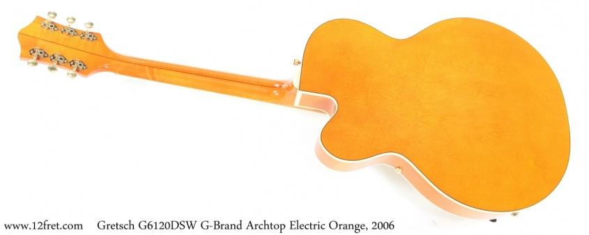 Gretsch G6120DSW G-Brand Archtop Electric Orange, 2006 Full Rear View