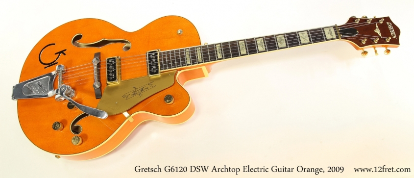 Gretsch G6120 DSW Archtop Electric Guitar Orange, 2009   Full Front View