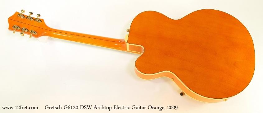 Gretsch G6120 DSW Archtop Electric Guitar Orange, 2009   Full Rear View