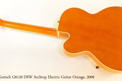 Gretsch G6120 DSW Archtop Electric Guitar Orange, 2009   Full Rear View
