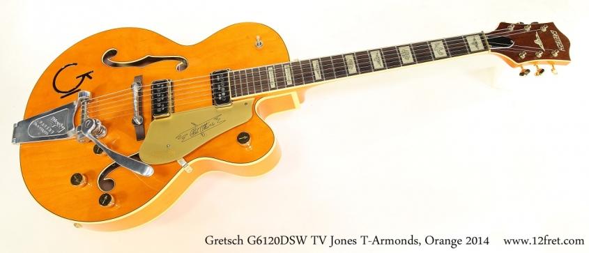Gretsch G6120DSW TV Jones T-Armonds, Orange 2014 Full Front View