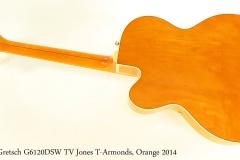 Gretsch G6120DSW TV Jones T-Armonds, Orange 2014 Full Rear View