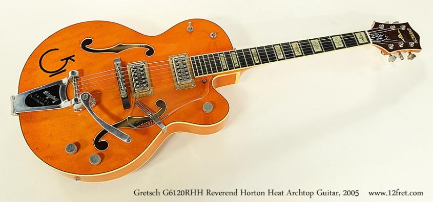 Gretsch G6120RHH Reverend Horton Heat Archtop Guitar, 2005 Full Front View