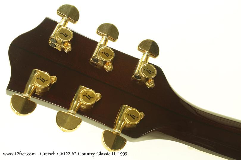 Gretsch G6122-1962 Country Classic II 1999 head rear