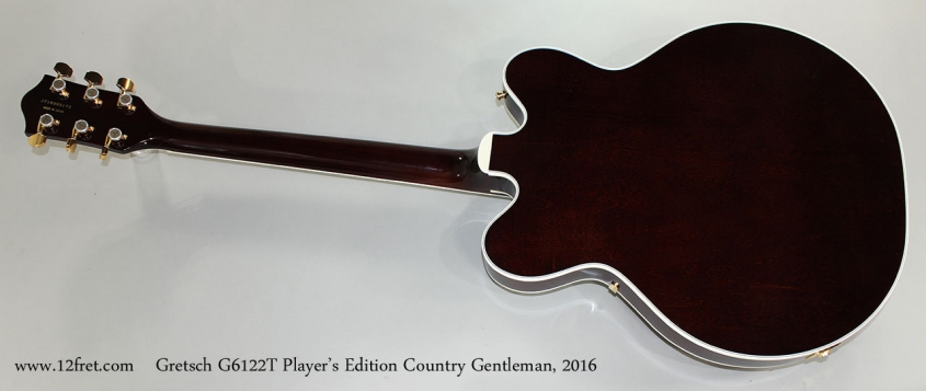 Gretsch G6122T Player's Edition Country Gentleman, 2016 Full Rear View
