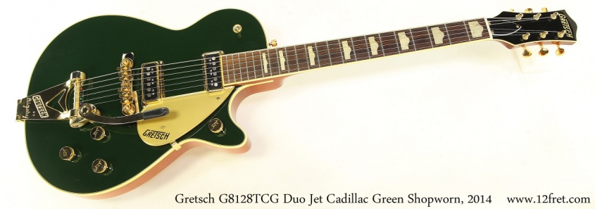 Gretsch G8128TCG Duo Jet Cadillac Green 2014 Full Front View