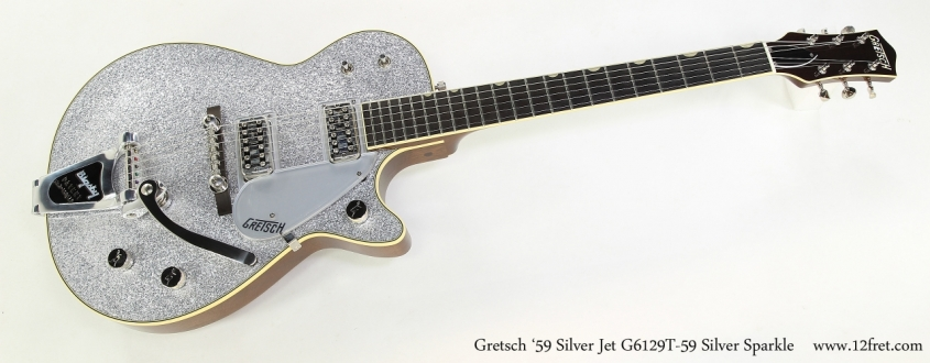 Gretsch '59 Silver Jet G6129T-59 Silver Sparkle  Full Front VIew