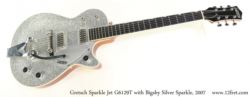 Gretsch Sparkle Jet G6129T with Bigsby Silver Sparkle, 2007 Full Front View