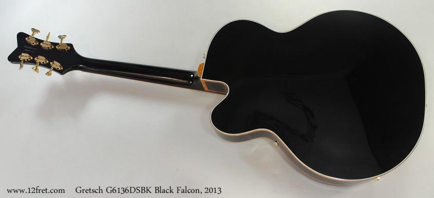 Gretsch G6136DSBK Black Falcon, 2013 Full Rear View