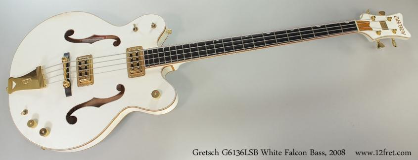 Gretsch G6136LSB White Falcon Bass, 2008 Full Front View