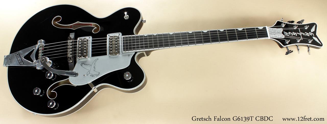 Gretsch Falcon G3139T CBDC Black full front view