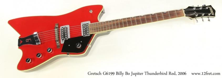 Gretsch G6199 Billy Bo Jupiter Thunderbird Red, 2006 Full Front View