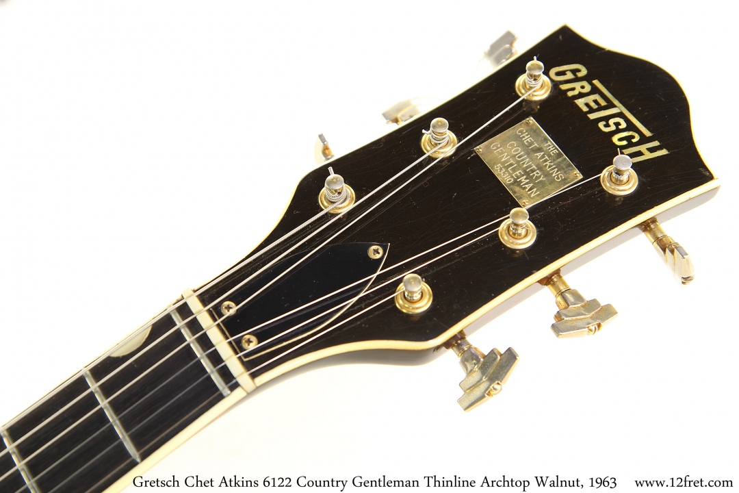 Gretsch Chet Atkins 6122 Country Gentleman Thinline Archtop Walnut, 1963 Head Front View