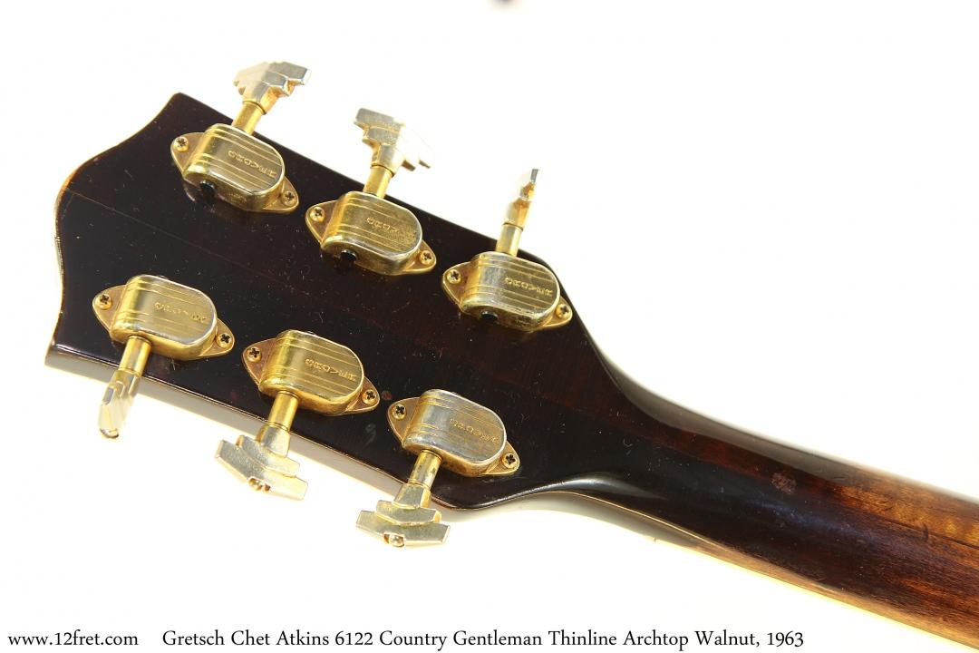 Gretsch Chet Atkins 6122 Country Gentleman Thinline Archtop Walnut, 1963 Head Rear View