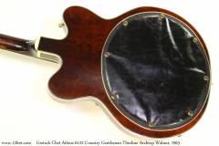 Gretsch Chet Atkins 6122 Country Gentleman Thinline Archtop Walnut, 1963 Back View