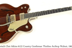 Gretsch Chet Atkins 6122 Country Gentleman Thinline Archtop Walnut, 1963 Full Front View
