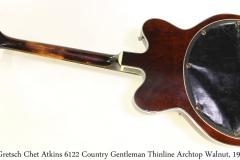 Gretsch Chet Atkins 6122 Country Gentleman Thinline Archtop Walnut, 1963 Full Rear View